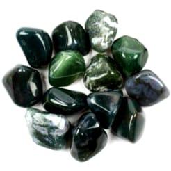 Green Agate Tumbles